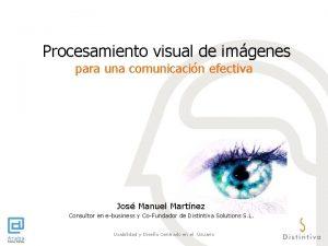 Procesamiento visual de imgenes para una comunicacin efectiva