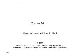Chapter 16 Electric Charge and Electric Field 2008