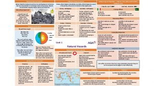 What are Natural Hazards Effects of Tectonic Hazards