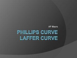 AP Macro PHILLIPS CURVE LAFFER CURVE The Phillips