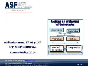 Sistema de Evaluacin del Desempeo Seguimiento Evaluacin Programas