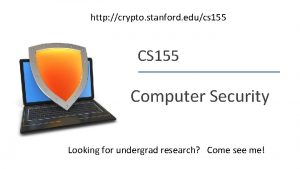 http crypto stanford educs 155 CS 155 Computer