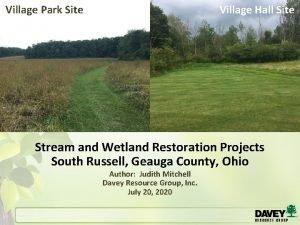 Village Park Site Village Hall Site Stream and