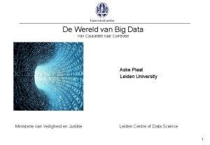 De Wereld van Big Data Van Causaliteit naar