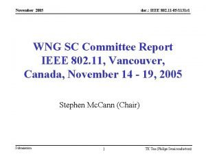November 2005 doc IEEE 802 11 051131 r