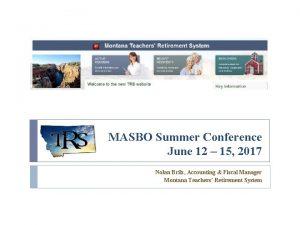 MASBO Summer Conference June 12 15 2017 Nolan