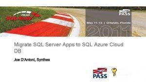 Migrate SQL Server Apps to SQL Azure Cloud