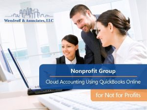 Nonprofit Group Cloud Accounting Using Quick Books Online