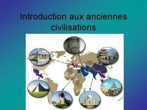 Introduction aux anciennes civilisations Dbut Ltude des socits