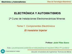 rea de Tecnologa Electrnica y Automatismos ELECTRNICA Y