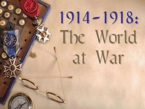 1914 1918 The World at War Differing Viewpoints