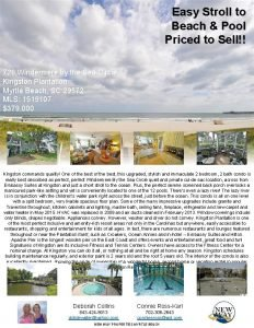 Easy Stroll to Beach Pool Priced to Sell