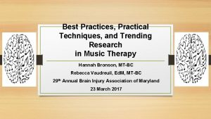 Best Practices Practical Techniques and Trending Research in