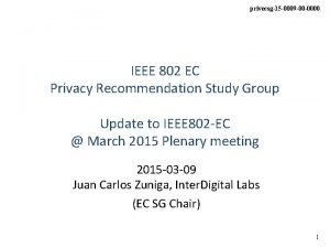 privecsg15 0009 00 0000 IEEE 802 EC Privacy