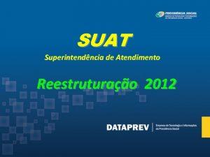 SUAT Superintendncia de Atendimento Reestruturao 2012 SUAT Superintendncia