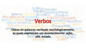 Verbos Classe de palavras variveis morfologicamente as quais