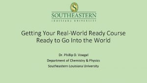 Getting Your RealWorld Ready Course Ready to Go
