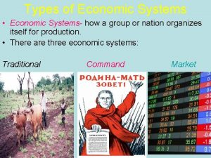 Types of Economic Systems Economic Systems how a