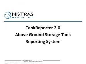 Tank Reporter 2 0 Above Ground Storage Tank
