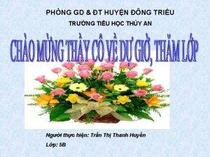 PHNG GD T HUYN NG TRIU TRNG TIU