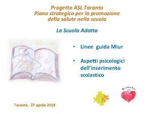 Progetto ASL Taranto Piano strategico per la promozione