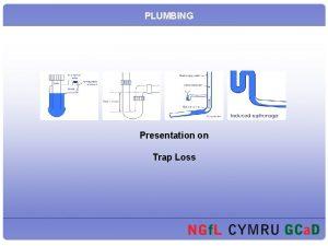 PLUMBING Presentation on Trap Loss Trap Loss At