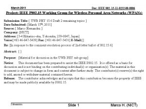 March 2011 Doc IEEE 802 15 11 0232