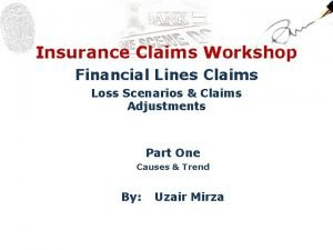 Insurance Claims Workshop Financial Lines Claims Loss Scenarios