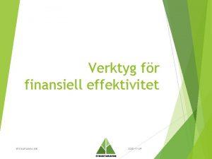 Verktyg fr finansiell effektivitet Strukturator AB 2020 11