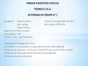 Estudiante Edisson Lituma Fecha 25 de Septiembre del