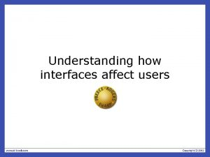 Understanding how interfaces affect users Overview Expressive interfaces