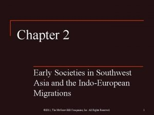 Chapter 2 Early Societies in Southwest Asia and