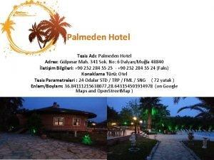 Palmeden Hotel Tesis Ad Palmeden Hotel Adres Glpnar