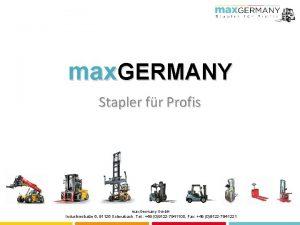 max GERMANY Stapler fr Profis max Germany Gmb