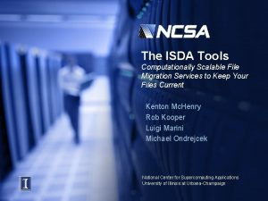 The ISDA Tools Computationally Scalable File Migration Services