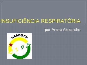 INSUFICINCIA RESPIRATRIA por Andr Alexandre INSUFICINCIA RESPIRATRIA Conceitos