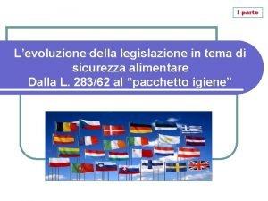 I parte Levoluzione della legislazione in tema di