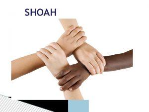 SHOAH per non dimenticare SHOAH OLOCAUSTO Shoah significa