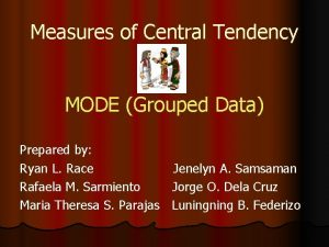 Measures of Central Tendency MODE Grouped Data Prepared