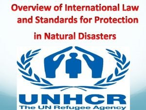 HOW DO NATURAL DISASTERS AFFECT HUMAN RIGHTS Lack