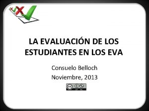 LA EVALUACIN DE LOS ESTUDIANTES EN LOS EVA