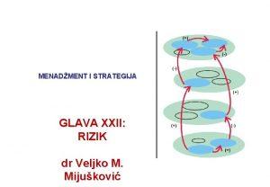 MENADMENT I STRATEGIJA GLAVA XXII RIZIK dr Veljko