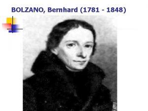 BOLZANO Bernhard 1781 1848 n Bernhard Bolzano 1781de