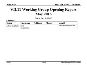 May 2015 doc IEEE 802 11 15483 r