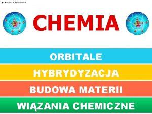 Rafa Kwiek All rights reserved CHEMIA ORBITALE HYBRYDYZACJA