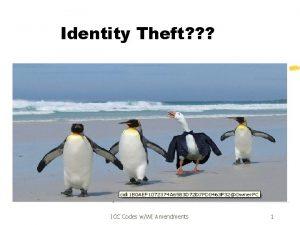 Identity Theft ICC Codes wWI Amendments 1 ICC