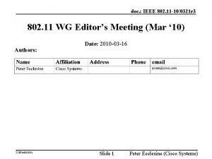 doc IEEE 802 11 100321 r 3 802