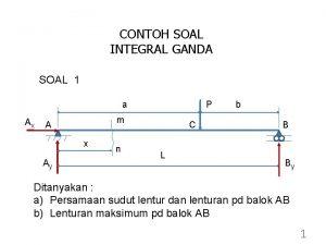 CONTOH SOAL INTEGRAL GANDA SOAL 1 a Ax