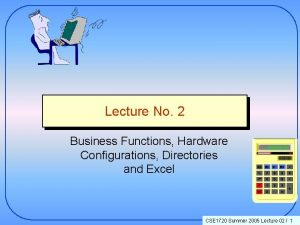 Lecture No 2 Business Functions Hardware Configurations Directories