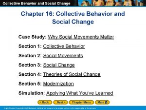 Collective Behavior and Social Change Chapter 16 Collective
